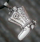 Texas Country Texan Sheriff Cowboy Cowgirl boots Spurs rodeo pewter pendant