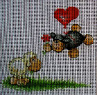 "Needlepoint canvas ""Lovely Sheeps"""