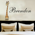 Your Name Personalised Wall Art Stickers Kids Giraffe , Bedroom , Wall Décor