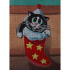"Needlepoint canvas ""Sweet cat in a Stocking"""