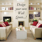 Design Your Own Wall Art Sticker - Up to 10 Words