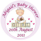 Pink Girl - Baby Shower Personalised Stickers - Favours