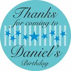 Personalised Party Bag Stickers Birthday Name Stars Design