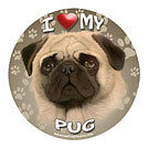 SUPER FAB LARGE DOG BREED MAGNETS  5.3/4 ROUND