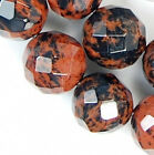 """8mm Faceted Brown Flame Jasper Round Beads 15.5"""""""