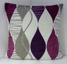 RETRO STONE AUBERGINE PURPLE  PLUM 60'S DESIGN CUSHION COVERS