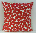 BRAND NEW  SPOTTED RED WHITE TRENDY CUSHION COVERS SCATTER CUSHION COVER