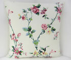 VINTAGE CHIC FLORAL DUSKY PINK DUCK EGG CUSHION COVERS