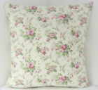 VINTAGE CHIC FLORAL DUSKY PINK GREEN CUSHION COVERS