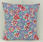 CARAVAN CUSHION COVERS SHABBY CHIC BLUE WHITE DUSKY PINK FLOWERED  BRIGHT FLORAL