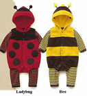 Ladybug Bumble Bee Costume Romper Outfit 0/12M/18m/24m
