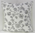 NEW CUSHION COVERS  IKEA CHARCOAL GREY WHITE AND BLACK SHABBY CHIC-STYLE