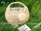 Women Sweet Flower Straw Beach Tote Shoulder Bag ShanghaiMagicBox SM1 #WBG515