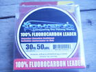 EXCELLENT OHERO 100% FLUOROCARBON LEADER LINE 50 YARD SPOOL CLEAR