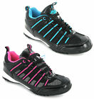 New Womens Mercury Flat Black Sport Fashion Trainers Joggers Shoes Size 3-8 UK