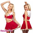 Girls Cheerleader Costume Red Full Outfits Fancy Dress S M L XL 2xl