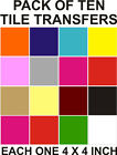 "4"" Tile transfers stickers 10,20,30,40,50,100,200, your choice of colours"