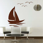 Sail Boat Vinyl Art Wall Stickers / Wall Decals / Wall Art / Wall Graphics