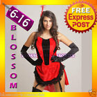 B58 MOULIN ROUGE BURLESQUE Ladies SALOON GIRL Wild West Fancy Dress Costume