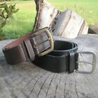 MENS REAL LEATHER BELTS BLACK & BROWN SIZES SMALL - XXL