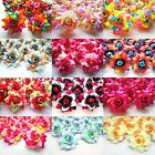 "24X Roses Artificial Silk Flower Head Lot 1.75"" for Hair clip Wedding decoration"