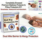 AllerZip Anti Allergy Bedbug Proof Mattress & Pillow Protector KIT