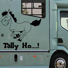 TALLY HO Graphic Horsebox Decal Sticker Vinyl