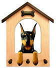 Adult Doberman Dog House Leash Holder. In Home Wall Decor Products & Gifts.