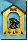 Rottweiler Silly Dog House Leash Holder.In Home Wall Decor Wood Products & Gifts