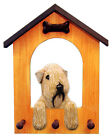 Soft-Coated Wheaten Terrier Dog House Leash Holder.  In Home Decor Wood Products