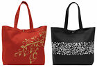 "Wellspring Gifts Durable Canvas Travel Tote Bag 14.5""x14""x5"" -- Choose Design!"