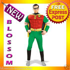 C417 Mens Robin Muscle Chest DC Comics  Adult Fancy Halloween Super Hero Costume