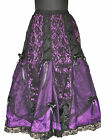 Gothic Victoria Renaissance Vamp Dark Purple Prom Night Sexy Net Skirt Punk 1547