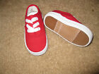 RED SNEAKERS Canvas Oxfords Boys Infant Toddler Sizes 1 to 10 NEW