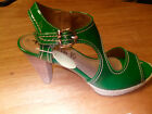 Tamaris Green or Blue PU Patent Sandal 28346 NEW IN