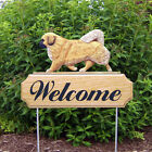 Tibetan Spaniel Welcome Sign Stake. Home,Yard & Garden Decor Dog Products-Gifts.