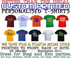 Unisex T Shirt Printing Custom Design Your Own Personalised Stag & Hen Party
