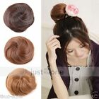 Ladies chic Clip scrunchie Pony Tail Ponytail Hair Extensions Bun Hairpiece Wigs