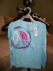 Old Navy Light Blue Peace Sign & Hearts T-Shirt - Choice of Size