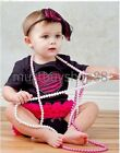 Lovely Baby Girl Pink Heart Black Tutu One-pieces 3-18 months