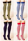 OTK Over the Knee Striped Socks Various Fancy Dress Nerd Geek Sailor Bumble Bee