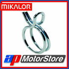 Mikalor Spring Band Type Fuel Hose Clips Silicone Pipe Clamp Double Wire - 10Pk