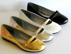 Women Gold Black White MaryJane Causal Wedding Big Size 11 Ballet Flats Shoes