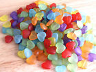 15 x Frosted heart acrylic beads 12x14mm ~ colour choice