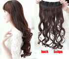 Fashion Women's Girl Long Wave Piece 5Clips in Hair Extensions 7colors Wigs KP19