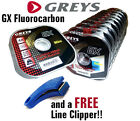 Greys GX Fluorocarbon Tippet Leader, Trout, Fly Fishing **FREE LINE NIPPERS**