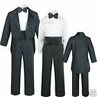 Внешний вид - Infant Toddler Kid Teen Boy Wedding Tail Formal Tuxedo Suit Black size: S to 20