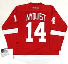 GUSTAV NYQUIST DETROIT RED WINGS REEBOK PREMIER HOME JERSEY