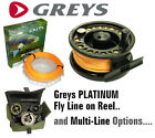 Hardy-Greys 'Platinum' Floating Line on AeroFly Disc Drag Fly Reel and Options