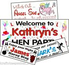 Angel Hen Poledancer Stag Weekend Personalised Banner 1-4m Krafty Keepsakes